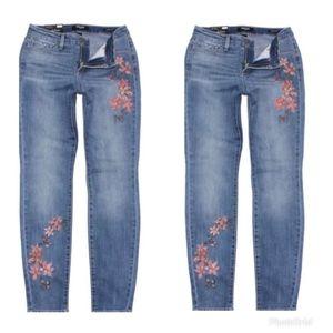 Nine West Gramercy Skinny Jeans Floral 16